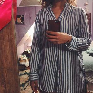 🍃 Zara Oversized Striped Top